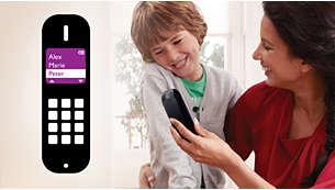 Сохраняйте до 200избранных номеров в телефонной книге