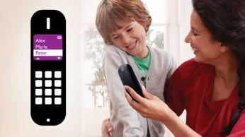 Guardá hasta 200 contactos favoritos en la agenda telefónica