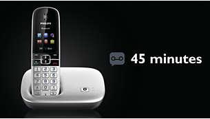 Upp till 60 min. meddelande på telefonsvararen.