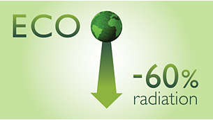 Up to 95% reduction of emitted radiation in charging mode