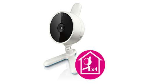 Compatible con hasta cuatro cámaras