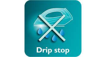 Tropf-Stopp-System verhindert Fleckenbildung beim Bügeln