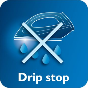 Systém zastavenia odkvapkávania zabráni vzniku škvŕn na látke počas žehlenia