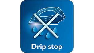 Het Drip Stop-systeem voorkomt dat er water op uw kleding komt