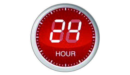 Preset-timer for 24 hours