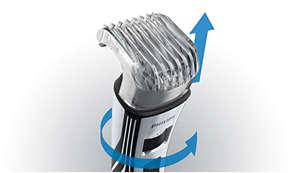 0.5~10mm まで 12 段階の長さに調節可能なヒゲトリマー