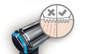 Hypo-allergenic shaver & pearl tips prevent skin irritation