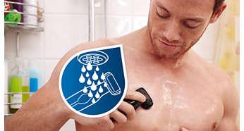 100%-ая водонепроницаемость для использования в душе и удобства очистки