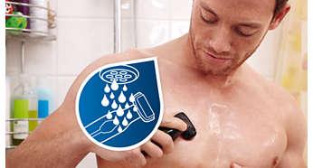 100% wasserdicht für die Verwendung unter der Dusche und leichtes Reinigen