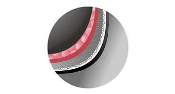 Panela interna c/ 5 camadas de 1,5mm p/ aquecimento uniforme