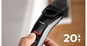 Hauteurs de coupe faciles à sélectionner et à verrouiller, de 0,5mm à 10mm
