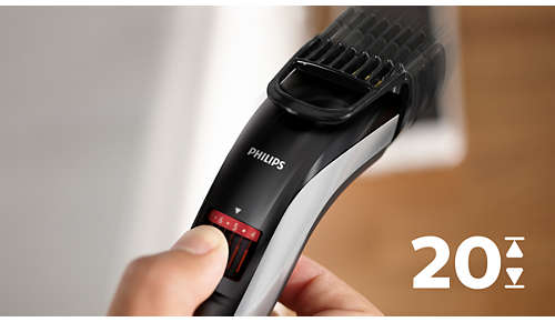 Easy to select and lock in length settings, 0.5mm to 10mm