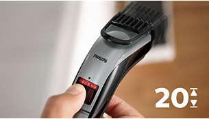 Réglages de longueur verrouillables faciles à sélectionner, 0,5mm à10mm