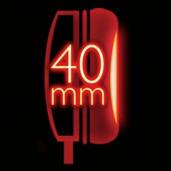 40 mm skaļruņi spēcīgai zemās frekvences skaņai