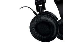 Conchas auditivas e alças ajustáveis perfeitas para qualquer pessoa