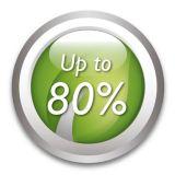 80% energy saving