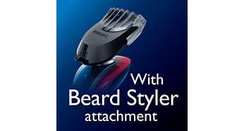 Accessoire tondeuse barbe clipsable avec 5hauteurs de coupe