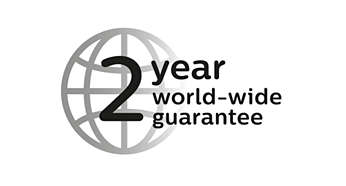 2 year guarantee, worldwide voltage and replaceable blades