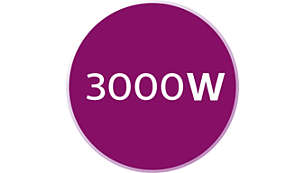 3000 W strijkijzer voor snel opwarmen
