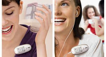 Handsfree-högtalarläge eller hörlurssekretess