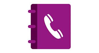 Telefoonboek voor 20 nummers en registratie voor 30 oproepen