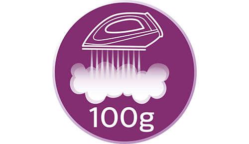 Dampfstoß bis zu 100g zum Glätten hartnäckiger Falten
