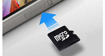microSD card slot for expanded memory of up to 32 GB
