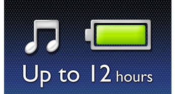 Enjoy up to 12-hour music playback