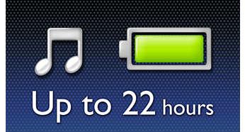 최대 22시간 동안 음악 재생