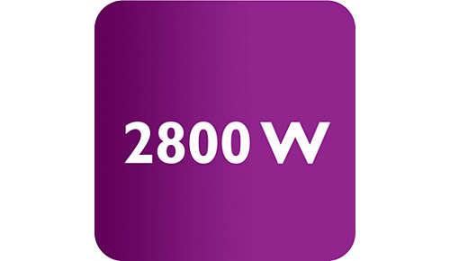 Plancha de 2800W para un calentamiento rápido y un gran rendimiento