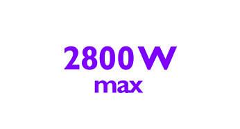 2800 W strijkijzer voor snel opwarmen en krachtige prestaties