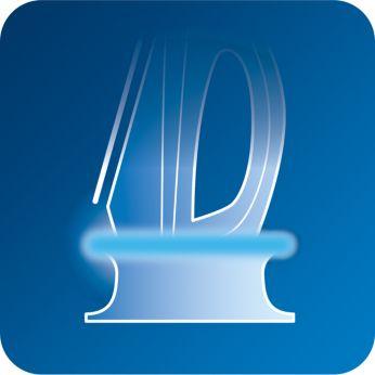 Утюг оснащен интеллектуальным световым индикатором