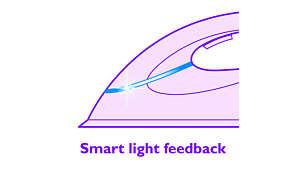 Strijkijzer met intelligent indicatorlampje