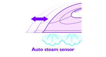 De automatische stoomsensor activeert de stoom automatisch