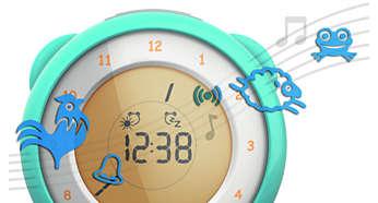 Zabawne wbudowane dźwięki alarmu zasypiania i budzenia