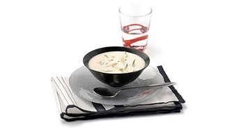 차거나 뜨거운 재료에 사용할 수 있는 다양한 용도(예: 수프)