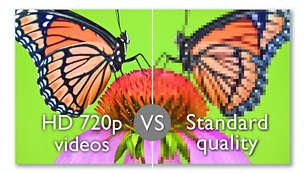 Revive tus mejores momentos con los videos en 720p HD