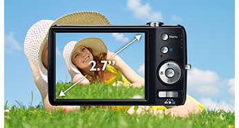 """Pantalla LCD color 6,85 cm (2.7"""") para disfrutar buenas imágenes y videos"""