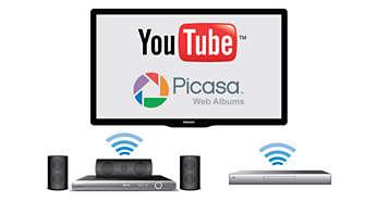 เข้าชมวิดีโอ YouTube และภาพถ่าย Picasa ที่คุณชื่นชอบได้ง่ายดาย