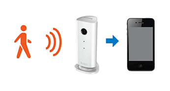 Built-in noise and motion detection