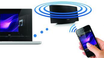 Transferencia de música con la tecnología inalámbrica AirPlay