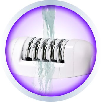 Washable epilation head for extra hygiene and easy cleaning