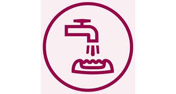 Depiladora con cabezal lavable para más higiene y fácil limpieza