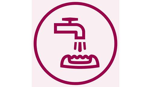 Głowica depilująca z możliwością mycia zapewnia higieniczne i łatwe czyszczenie