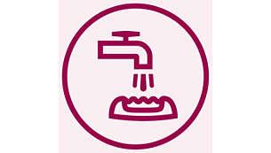 Testina epilatoria lavabile per una pulizia facile e per la massima igiene