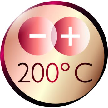 200°C top temperature for perfect styling results