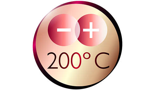 200°C maks. temperatur for perfekte stylingresultater