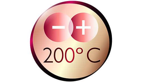 Maximumtemperatuur van 200°C voor perfecte stylingresultaten