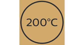 200°C максимална температура за идеално оформяне