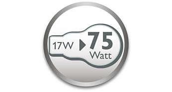 Az első 75 W-ot helyettesítő izzó